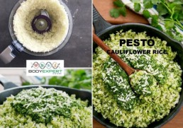 Healthy Eating Vietnam - Cauliflower rice with kale pesto
